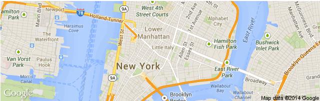 Downtown Manhattan Map