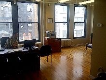 255 West 36th St: Bright Commercial Loft, Open Ceilings, Wood Floors