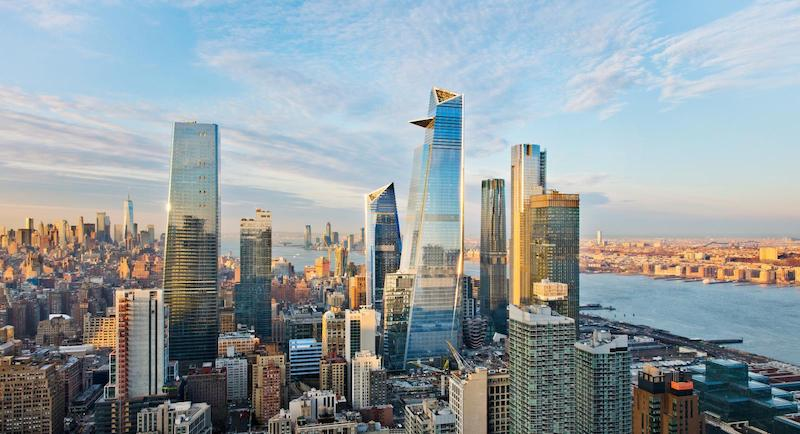 Rendering of Hudson Yards, courtesy of KPF